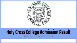 Holy Cross College Admission Result
